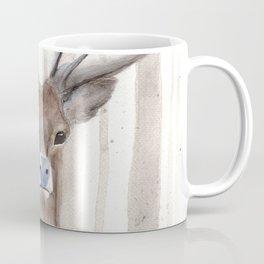 Deer in Winter Forest Coffee Mug
