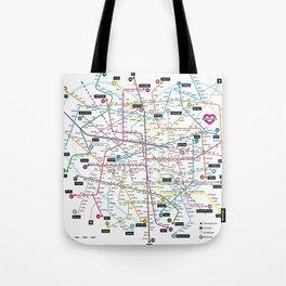 Love Map Tote Bag