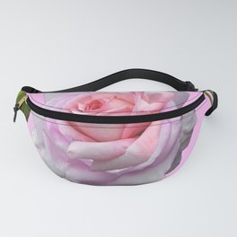 PINK GARDEN ROSE GREEN LEAVES ABSTRACT Fanny Pack