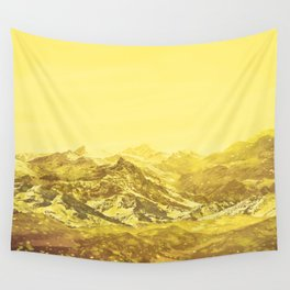 Mountains Yellow Wall Tapestry