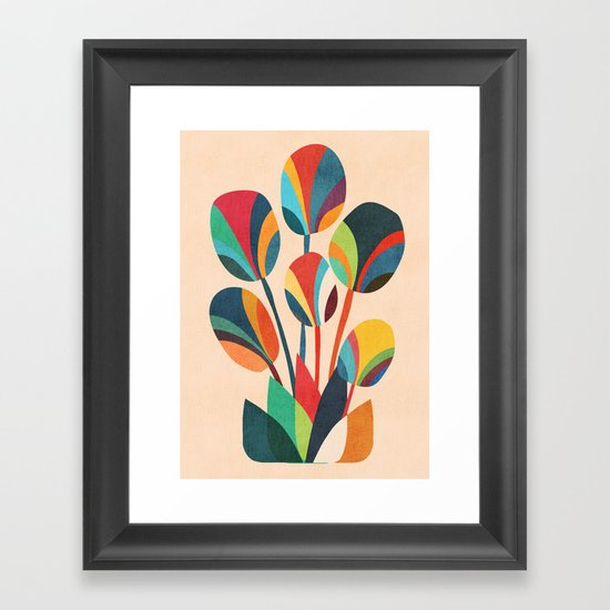 Ikebana - Geometric flower Framed Art Print