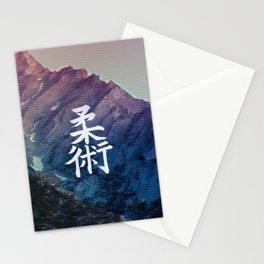 Vaporwave Mountain Stationery Cards