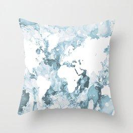 Design 103 World Map Throw Pillow