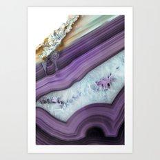 Purple Agate Slice Art Print