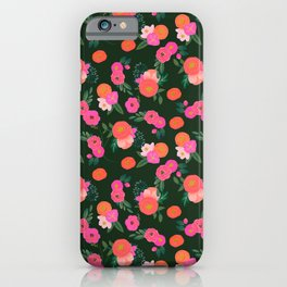 Miss Kit Floral iPhone Case