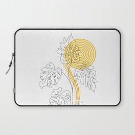 Monstera line Art Laptop Sleeve