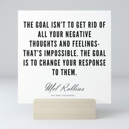 36  | Mel Robbins Quotes | 190802 Mini Art Print