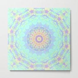 Rainbow Triangles Kaleidoscope Metal Print