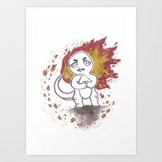 Rage Art Print
