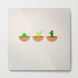 Tres Cactus Metal Print