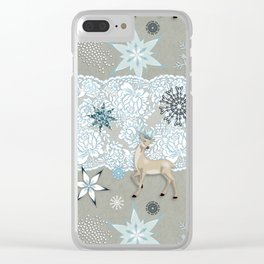 Lace & Flake Clear iPhone Case