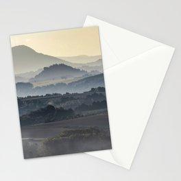 Foggy morning in Bastei Stationery Cards