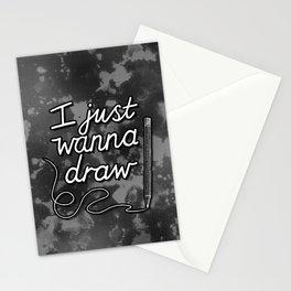 I Just Wanna Draw Stationery Cards