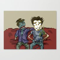 resident evil Canvas Prints featuring playing resident evil by Toubab