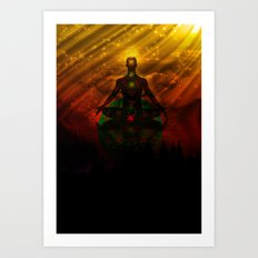 One with the universe Art Print