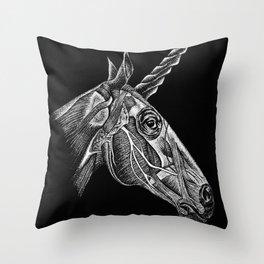 Anatomy of a Unicorn  Throw Pillow