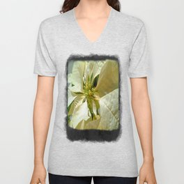 Pale Yellow Poinsettia 1 Blank P4F0 Unisex V-Neck