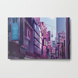 Seoul - Anime World Metal Print