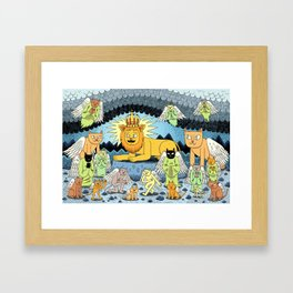 Rebirth of the King Framed Art Print