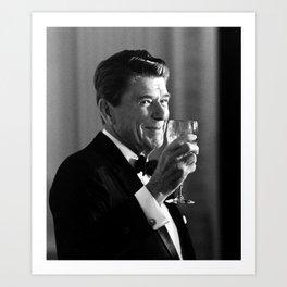 President Reagan Making A Toast Art Print