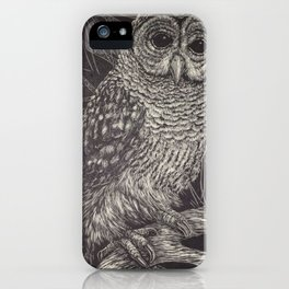 Illustrated Owl iPhone Case