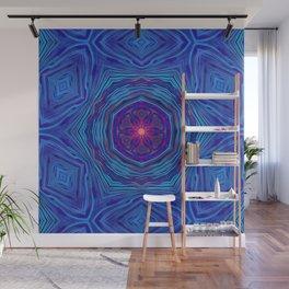 Blue Flow Painting Mandala Wall Mural