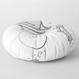 Toilet Patent - Bathroom Art - Black And White Floor Pillow