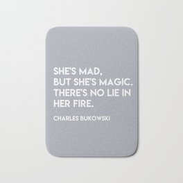 Bukowski - She's mad but she's magic Bath Mat
