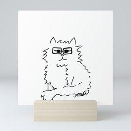 How Do You Like Meow Hipster Kitten Mini Art Print