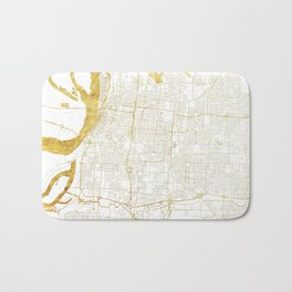Memphis Map Gold Bath Mat