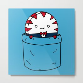 Peppermint Butler in a pocket Metal Print