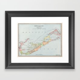 Vintage Map of Bermuda (1901) Framed Art Print