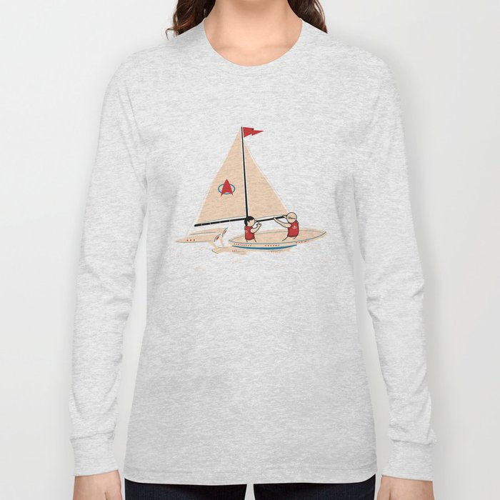 Sailing Towards Future Unknowns Long Sleeve T-shirt