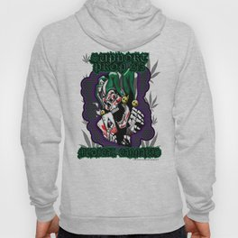 100% Smokin' Cannabis - Support Prop 215 - Smokin' Joker With Leaves Hoody