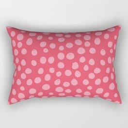 Sun Circles in Red and Pink Rectangular Pillow