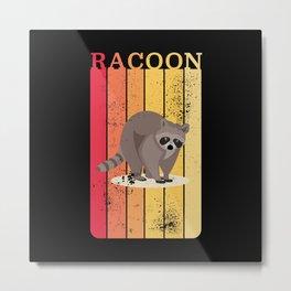 Retro Racoon Trash panda Raccoon Gift Metal Print