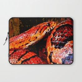Grunge Coiled Corn Snake Laptop Sleeve