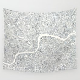 City Map London watercolor map Wall Tapestry