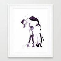 iwatobi Framed Art Prints featuring Free Haru by Blue