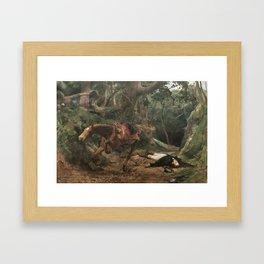 Muerte de Sucre en Berruecos 1895 by Arturo Michelena Framed Art Print