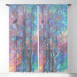 Love Birds Abstract #society6 #decor #lovebirds by Lena Owens @OLena Art Sheer Curtain