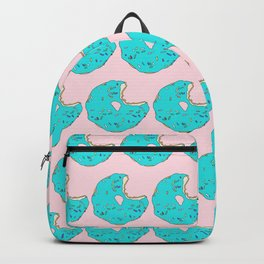 Teal Sprinkled Donut Backpack