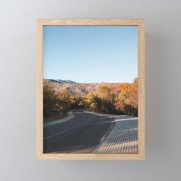 Autumn Road Framed Mini Art Print