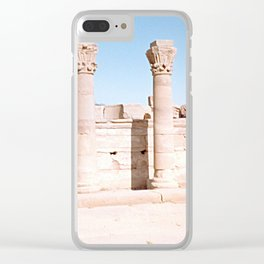 Temple of Dendera, no. 3 Clear iPhone Case