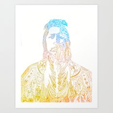 motif of a portrait II Art Print