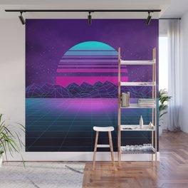 Future Sunset Vaporwave Aesthetic Wall Mural