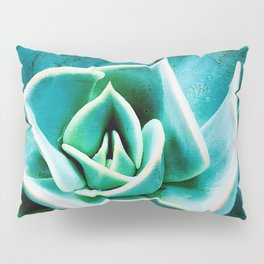 Sea Foam Green and Blue Jeweled Succulent Pillow Sham