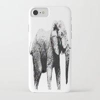african iPhone & iPod Cases featuring African Elephant by T.E.Perry