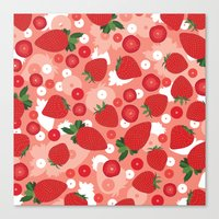 strawberry Canvas Prints featuring Strawberry by Ornaart