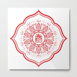 Root Chakra Mandala #04 Metal Print